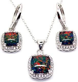 9ct oro Rosa en Plata Morganita /& Cadena Colgante Diamond Cluster