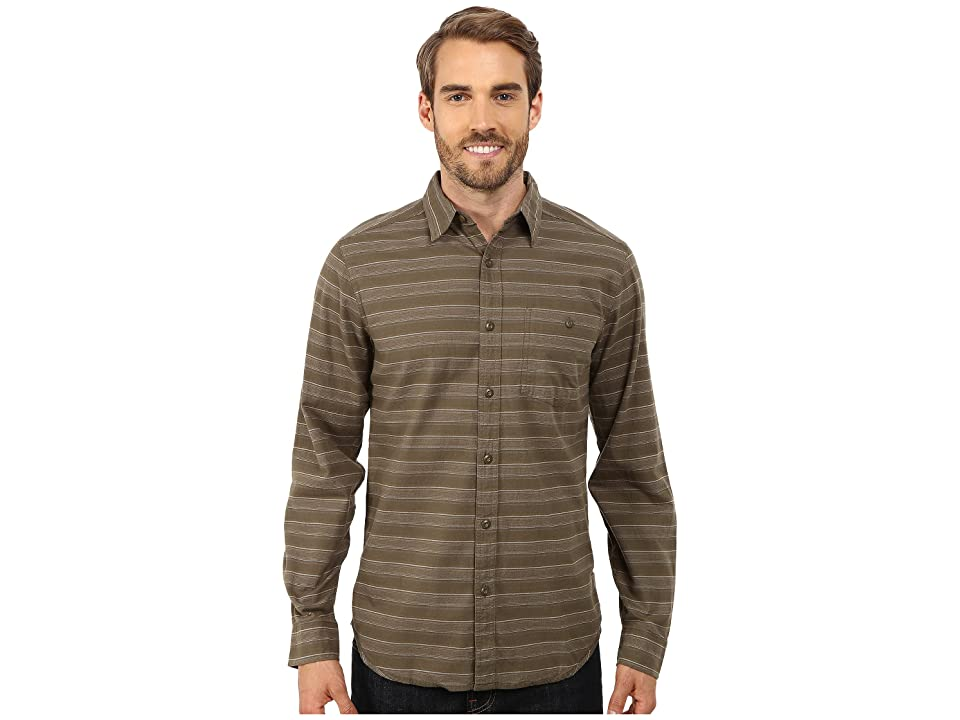 Royal Robbins Sierra Stripe Long Sleeve Shirt (Light Olive) Men