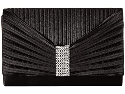 Jessica McClintock Alexis Clutch (Black) Clutch Handbags