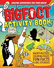 BigFoot Activity Book: Wacky Puzzles, Coloring Pages, Fun Facts & Cool Stickers! (Happy Fox Books) Search-and-Find, Mazes,...