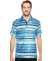BUGATCHI - Short Sleeve Digital Prints Three-Button Shirt