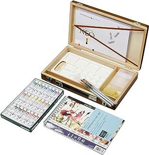 クサカベ 水彩画箱セットプラ 24色ブラウントラベルブック付 5ml(2号)