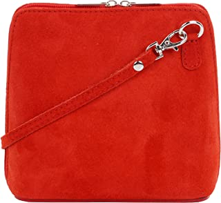 red suede handbag uk