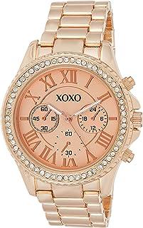 XOXO Womens Quartz Watch, Analog Display and Stainless Steel Strap XO5938