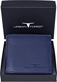 URBAN FOREST Blue Leather Wallet for Men