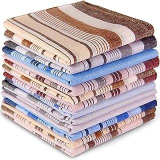 Ohuhu 100% Pure Cotton Men's Cotton Handkerchiefs, Pocket Square Hankies/Pocket Handkerchiefs For Men