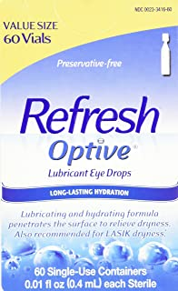 Allergan Optive Sensitive Preservative-Free Lubricant Eye Drops, 60 Count