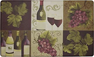 Chef Gear Wellness Wine Anti-Fatigue Comfort Memory Foam Kitchen Chef Mat, 20 x 32