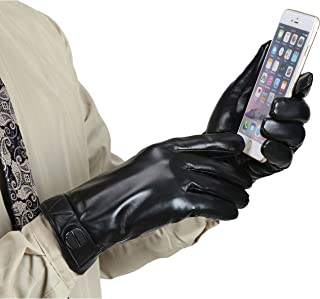 Best mens real leather gloves Reviews
