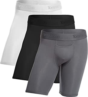 Men's Second Skin Boxer Briefs - 3 Pack - No Ride-Up Comfortable Breathable Underwear for Men