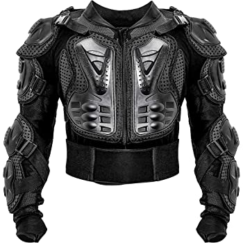 Motorcycle Armor Protective Full Body Armor Back Protection Waist adjustment belt Armor Motocross Off-Road Racing Vest,Black