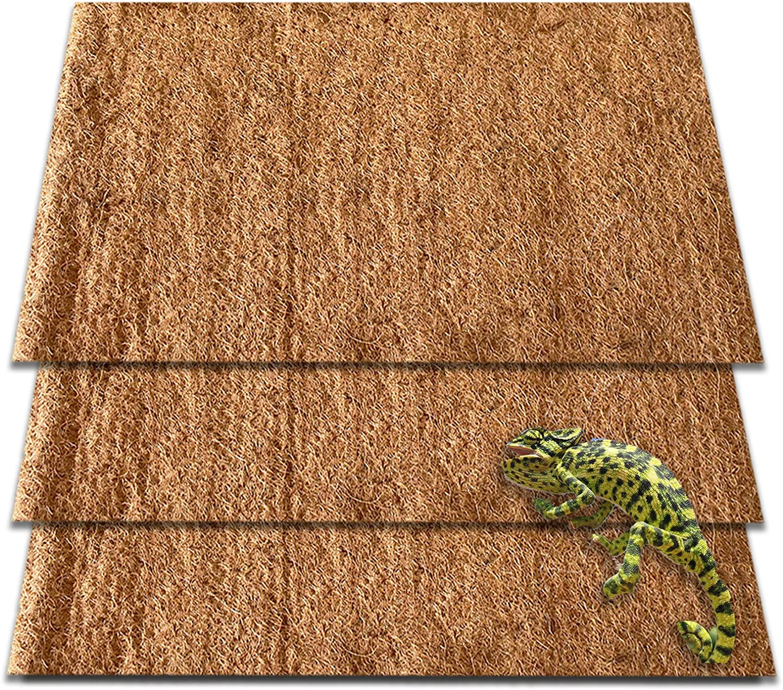 ZeeDix 3Pcs Natural Coconut Fiber Reptile Challenge the lowest price Pet Carpet Mat- Terrar Sales