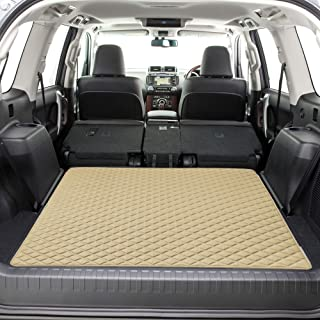"""FH Group F16501 Deluxe Heavy-Duty Faux Leather Multi-Purpose Cargo Liner, Diamond, 46"""" : 40"""" x 46"""", Beige Color- Fit Most Car, Truck, SUV, or Van"""