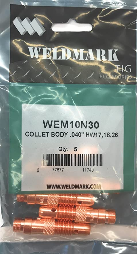 """10pcs 10N30 .040/"""" TIG torch weld collet body WP17 18 26 SN-T"""