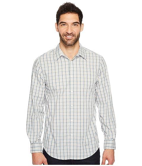 perry ellis long sleeve multiolor check shirt