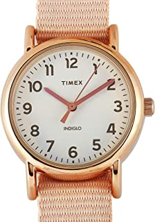 Timex Women's White Dial Textile Band Watch - TW2R59900