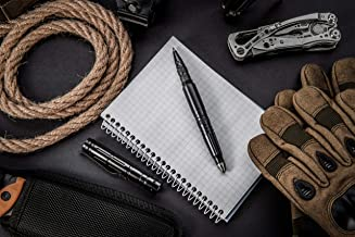 Tactical Pen Self Defense Tool - Survival Kit Multi-purpose combo Flashlight + Bottle opener + Glass breaker + Hex wrench + Screwdriver