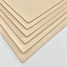10cube leathermart レザークラフトに最適 セット ヌメ革 きなり 成牛タンロー 国産 /A4サイズ(210x297mm) 6枚セット (0.8mm厚)