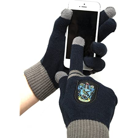 Cinereplicas - Harry Potter - Gants Ecran Tactiles - Licence Officielle - Maison Serdaigle - Taille Unique - Bleu et Gris