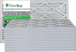 Best FilterBuy 16x20x1 MERV 8 Pleated AC Furnace Air Filter, (Pack of 12 Filters), 16x20x1 – Silver Review
