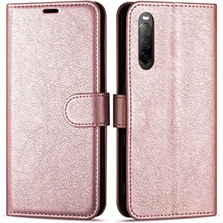 TANYO Leather Folio Case for Sony Xperia 10 II Sony 10 ii Red Premium PU//TPU Wallet Cover with Card and Cash Slots Flip Magnetic Closure Shell