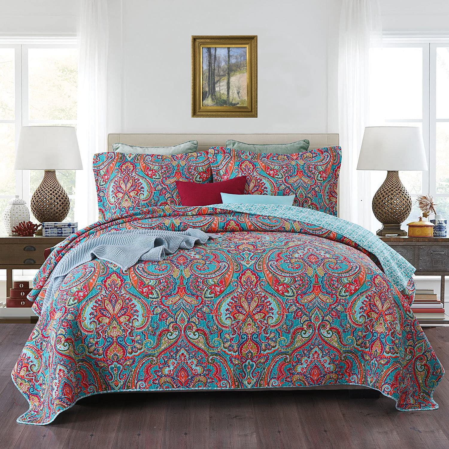 Suprehomeus Cotton Bedspread Detroit Mall Quilt Miami Mall Sets Gorgeous Floral Pattern