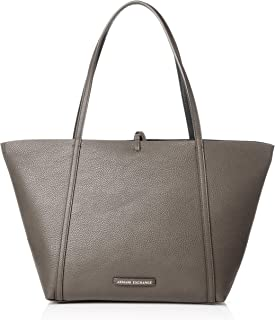 A|X Armani Exchange Medium Tote, Nero-Taupe/Black 12