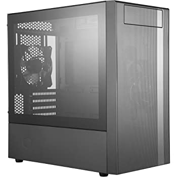 Cooler Master MasterBox NR400 Micro-ATX Towe with Front Mesh Ventilation, Minimal Design, Tempered Glass Side Panel and Single Headset Jack