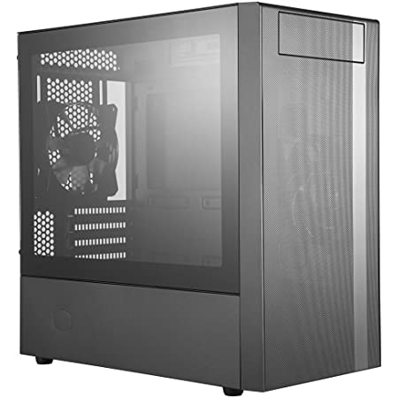 Cooler Master MasterBox NR400 Micro-ATX Tower with Front Mesh Ventilation, Minimal Design, Tempered Glass Side Panel and Single Headset Jack