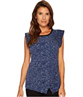 MICHAEL Michael Kors - Tweed Flutter Sleeve Top