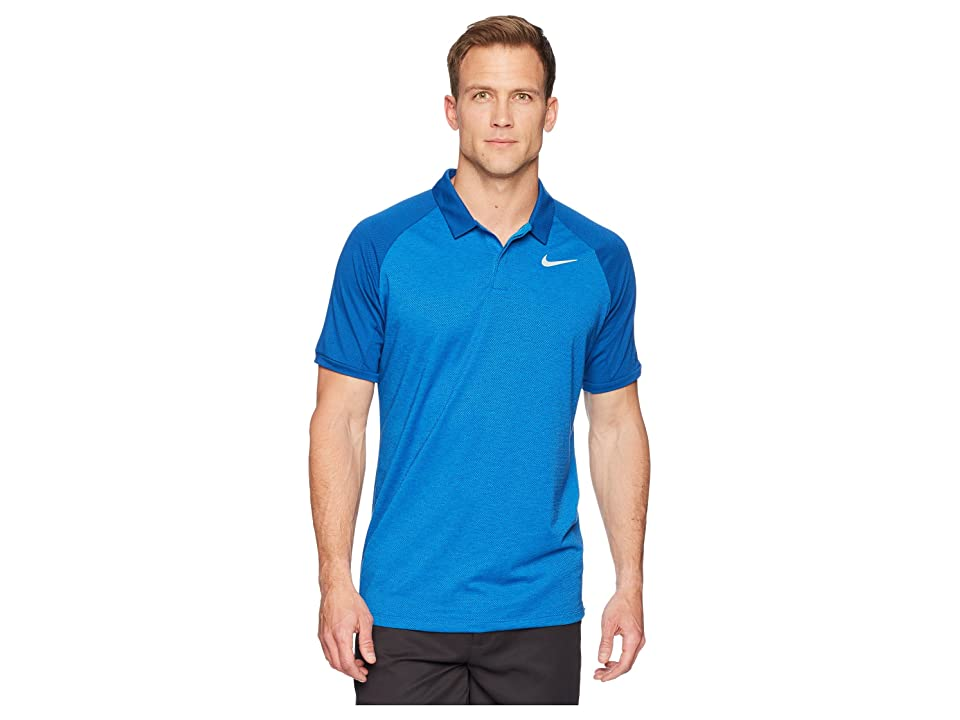 Nike Golf Dry Polo Raglan (Blue Nebula/Gym Blue/Heather/Flat Silver) Men