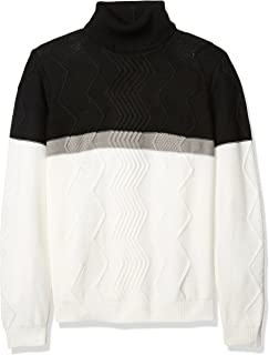 A|X Armani Exchange Men's Multi Knit Color Blocked Turtle Neck
