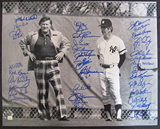 GEORGE STEINBRENNER BILLY MARTIN 16x20 PHOTO SIGNED BY 36 PEPITONE WHITE MADDOX+