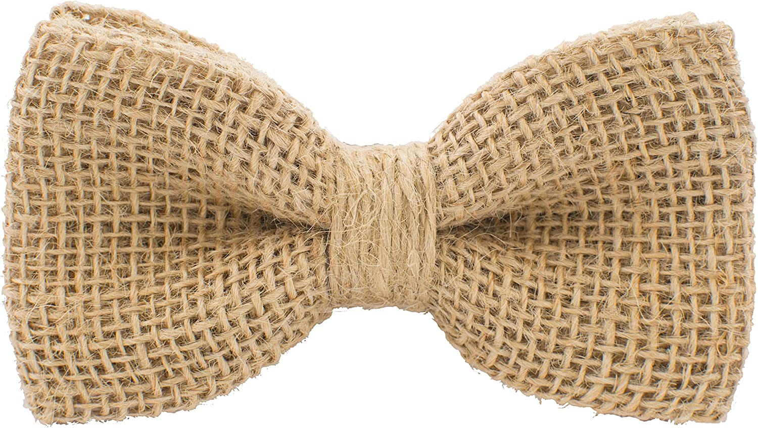 Rustic Pre-Tied Bow Tie in 100% Burlap Hessian for Adults & Children Linen Hemp Bagging, by Bow Tie House