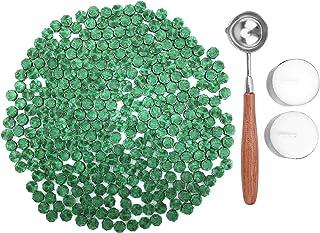 KELZIA 230 pièces Octagon d'étanchéité Cire Perles Bâtons avec 2 pièces à thé Bougies et 1 pièce Cire la Fonte Cuillère po...