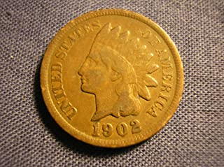 1902 U.S. Indian Head Cent / Penny Circulated Good and Better