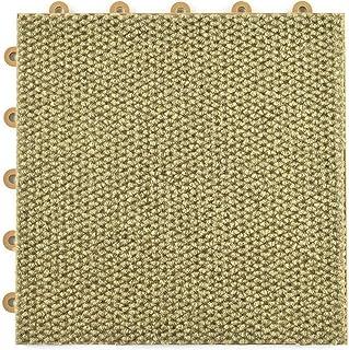 Greatmats Modular Carpet Tile, Durable Snap Together 1x1 Ft x .5 Inch Carpet Tiles for Basement Flooring, 20 Pack (Tan)