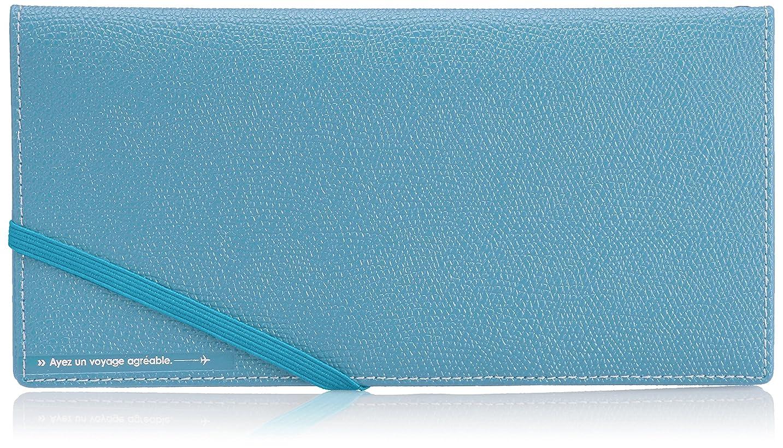 暖炉提供する香港[コンサイス] スキミングブロック パスポートケース皮革調R 貴重品入れ スキミング予防 20 cm 0.062kg ブルー
