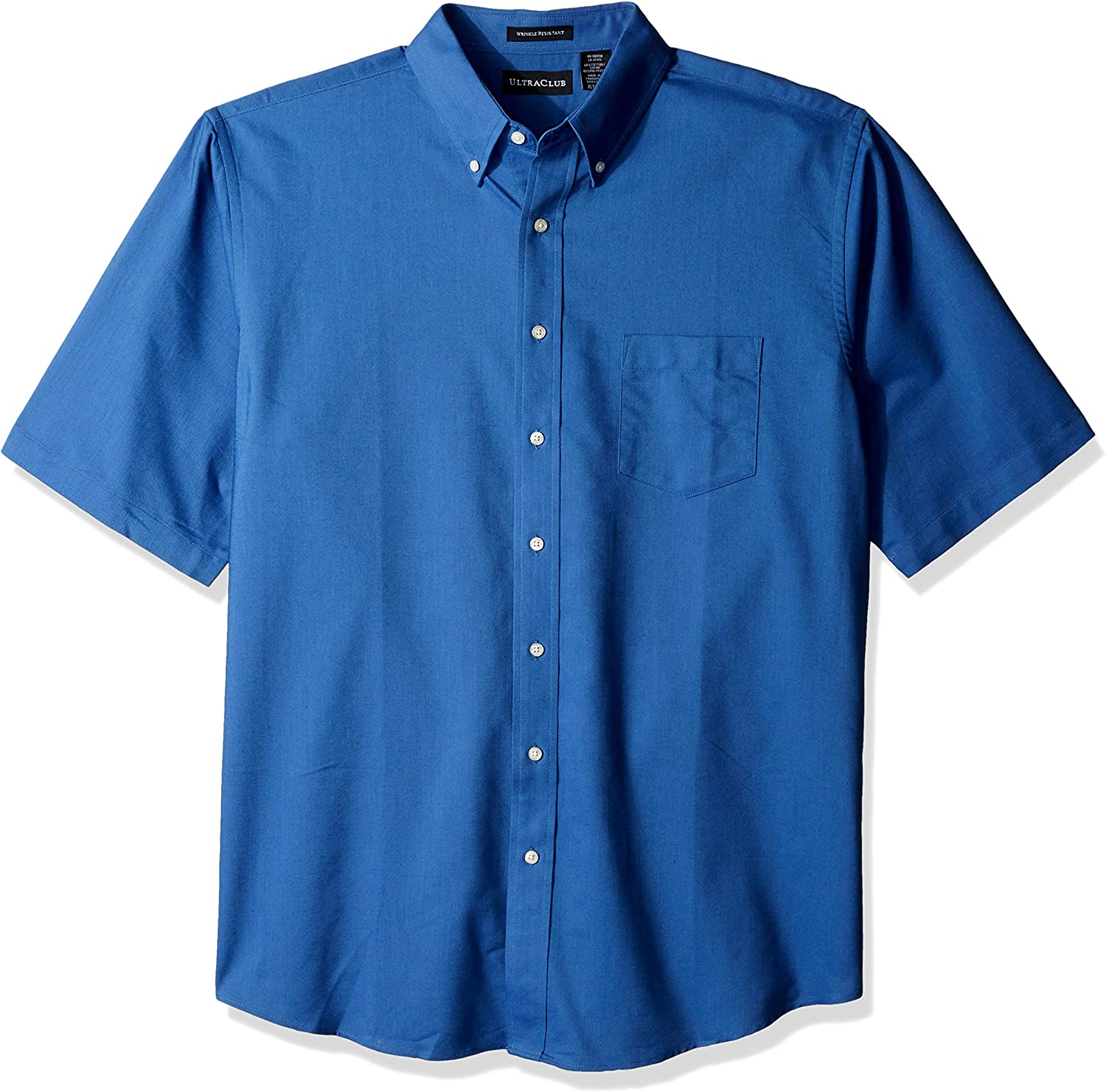 Clementine Men's Ultc-8972t-tall Classic Wrinkle-Free Short-Sleeve Oxford