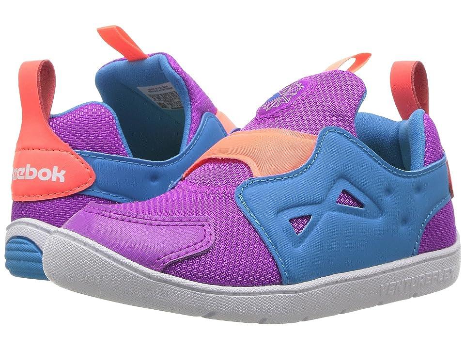 Reebok Kids Ventureflex Slip-On (Toddler) (Vicious Violet/California Blue/Guava/White) Girls Shoes