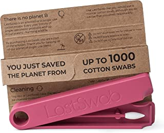 LastSwab Beauty Reusable Cotton Buds for Makeup Removal - Eco Friendly Q tips - Designed in Denmark - Easy to Clean - Zero...