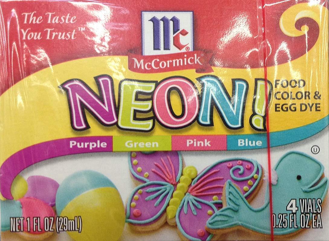 McCormick Neon Food Coloring Egg Dye 1oz Box Pack Of 3
