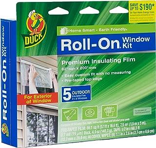 Duck Brand Roll-On Outdoor 5-Window Premium Insulating Film Kit, 62-Inch x 200-Inch, 281072
