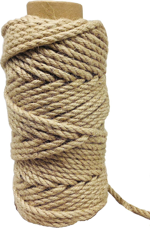 100 Feet free shipping 5mm Tulsa Mall Jute Twine Rope Heavy Hemp Duty Natural