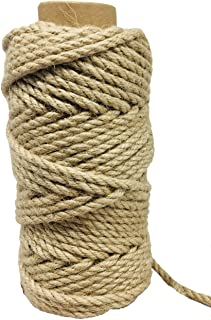 100 Feet 5mm Jute Twine, Heavy Duty Jute Rope, Natural Hemp Rope for DIY Arts Crafts, Gardening, Bundling,Home Decorating,...