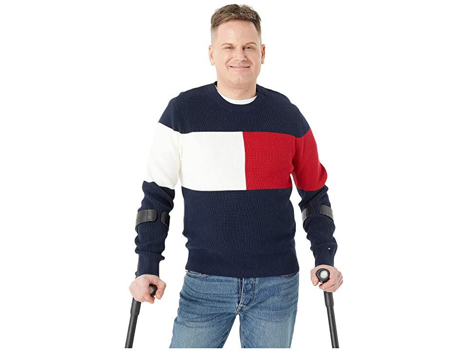 Tommy Hilfiger Adaptive Flag Crew Neck (Navy Blazer) Men