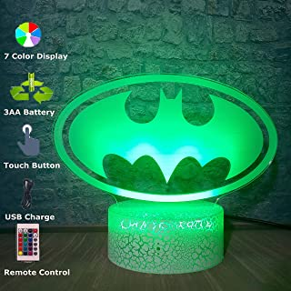 3D LED Lamp Marvel Batman Mask Table Night Light Atmosphere 7 Color Change Bedroom Decoration Christmas Gift Toys Luminaria