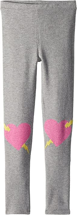 Chaser Kids Soft Love Knit Heart Knees Leggings (Big Kids)
