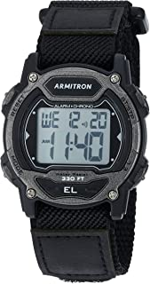 Unisex 45/7004GBK Digital Chronograph Black Nylon Strap Watch