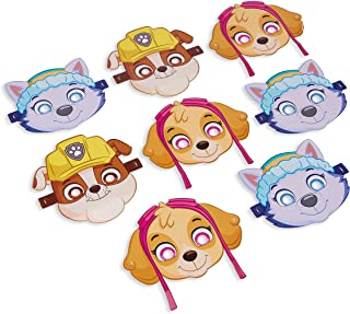 AMERICAN GREETINGS Paw Patrol Party Supplies for Girls, Paper Masks (8-Count)